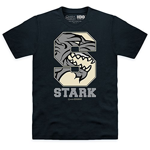 Official Game Of Thrones S For Stark T-shirt, Uomo Nero