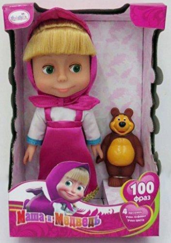 Masha y el oso Medved juguete. Sonido & Talking TOÃ 'â & # x192; 100frases y 4canciones por Tornado tienda