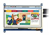 Waveshare 7 Inch Capacitive Touch Screen LCD(C) 1024 * 600 HDMI Interface Display Shield Panel Supports Raspberry Pi/BB Black/PC/Various Systems/Raspberry Pi 3 Model B
