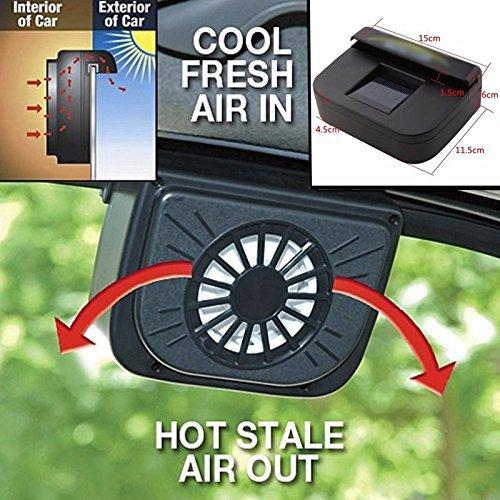 Zooarts - Ventilador refrigerador Auto Vent con energía solar para refrescar el...