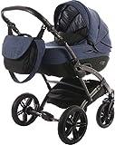 Knorr-Baby Kombi-Kinderwagen Voletto Carryo schwarz-blau