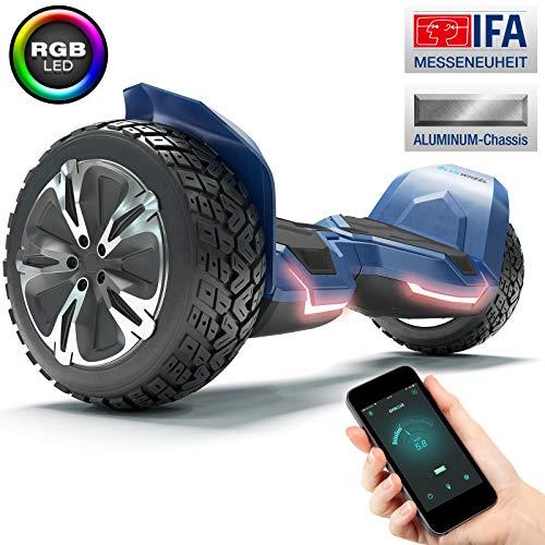 """8.5\"""" Premium Offroad Hoverboard Bluewheel HX500 SUV Deutsche Qualitäts Marke - Kinder Sicherheitsmodus & App - Bluetooth - Starker Dual Motor - Elektro Skateboard Self Balance Scooter"""