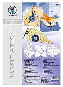 """Ursus ® Plantillas inspiración Cajas de 4 """"- Capacidad de 3 Plantillas de película de plástico Transparente de 0,5 mm a Varias Cajas"""
