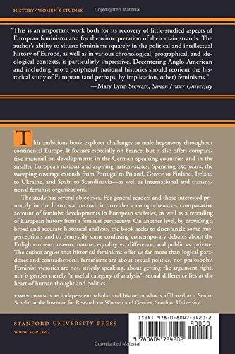 European Feminisms, 1700-1950: A Political History