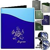 Unbekannt - hergestellt in Deutschland Zeugnismappe / Zeugnisbuch -  Zeugnisse  _  Globus & Erde - Modell-Mix  - A4 - GEBUNDEN mit 20 festen Seiten- A 4 - Softcover - für Kinder Erwachsene - Gr..