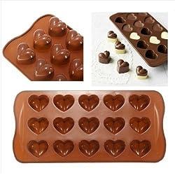 FamilyMall - Molde para hacer bombones (silicona), dise?o de corazones