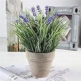 Cesto di fiori intrecciati-TianranRT Bello Simulazione piante in vaso verde creativo decorazioni per la casa ornamenti,Multicolore
