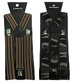 Atyourdoor Y- Back Suspenders for Men(Br...