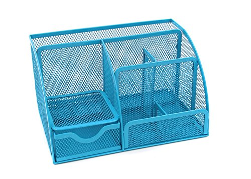mesh-organizer-da-scrivania-scrivania-supplies-caddy-penna-holder-card-case-organizer-con-cassetti-c