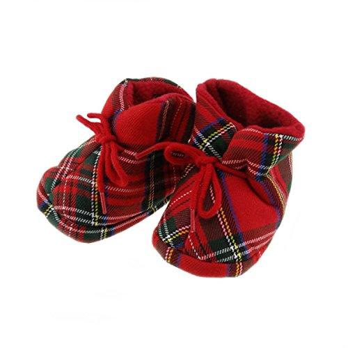Royal Stewart Tartan Soft Bootees - Made in Scotland by Glen Appin Since 1903 BT1535