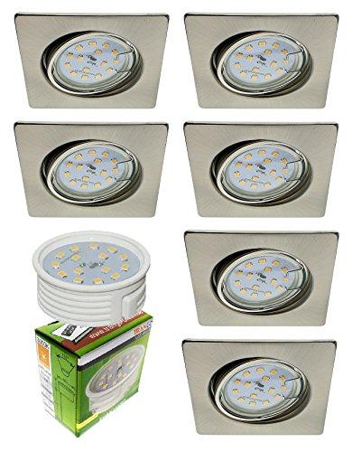 Conjunto Trango 6 focos empotrables LED ultraplanos