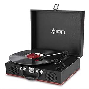 ION Audio Vinyl Transport | Platine Vinyle Portable Style Malette avec Enceintes Intégrées