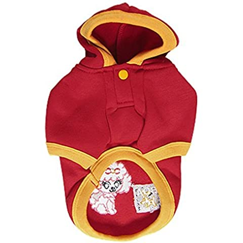 Water & Wood Size S Pet Dog Clothes Yellow Hem Fleeces Hooded Coat Jacket Jumpsuit Apparel