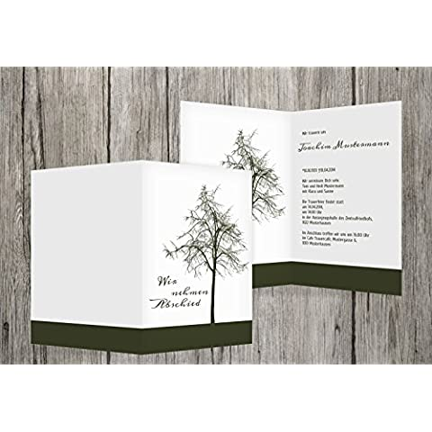 Cartolina di auguri Tree, verde scuro, 100