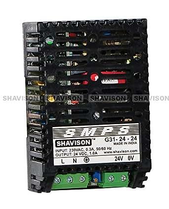 Shavison SMPS G31-24-24, I/P : 230VAC, O/P : 24V, 1A