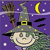 8x Kleine Hexe Halloween Servietten