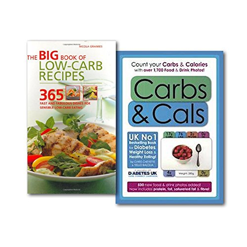 Carbs Collection Set, (Weight Loss & healthy Eating), (Carbs & Cals: Count your Carbs & Calories with over 1,700 Food & Drink Photos! & The Big Book of Low-Carb Recipes: 365 Fast and Fabulous Dishes for Every Low-Carb Lifestyle)