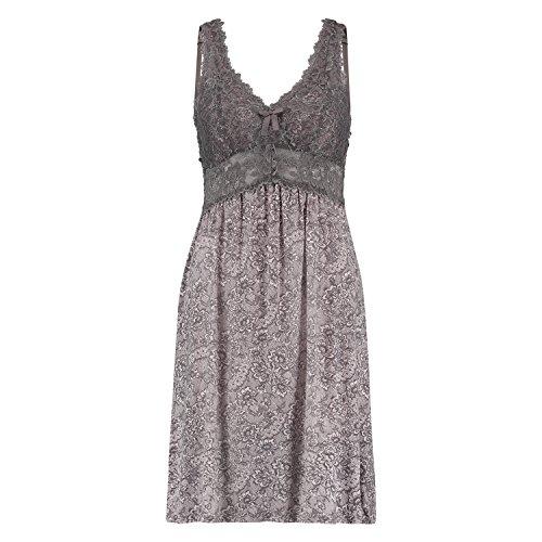 Hunkemöller Damen Slipdress Modal Lace Rose M130522
