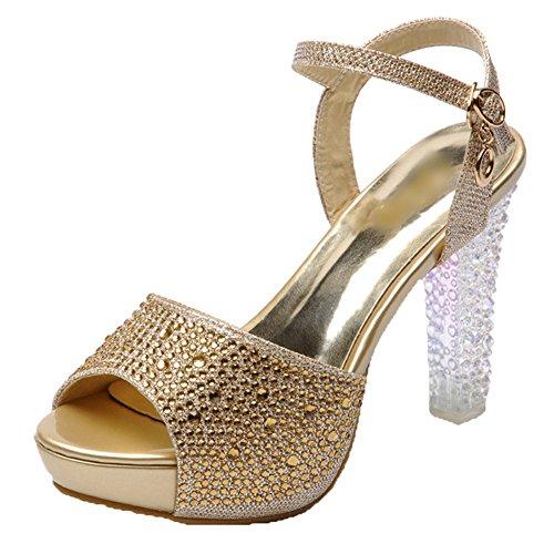 Scothen Women's High Heels Trendy Belts Pumps Party Platform Shoes Comfortable Waterproof...