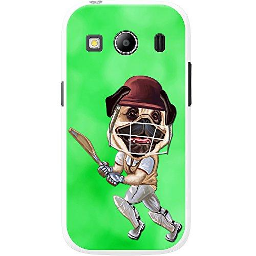 Cricket Mops spielt mit Schläger & Helm Hartschalenhülle Telefonhülle zum Aufstecken für Samsung Galaxy Ace 4