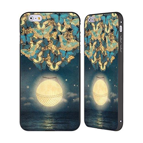 Ufficiale Paula Belle Flores Una Notte A Parigi Luna Nero Cover Contorno con Bumper in Alluminio per Apple iPhone 5 / 5s / SE Salendo