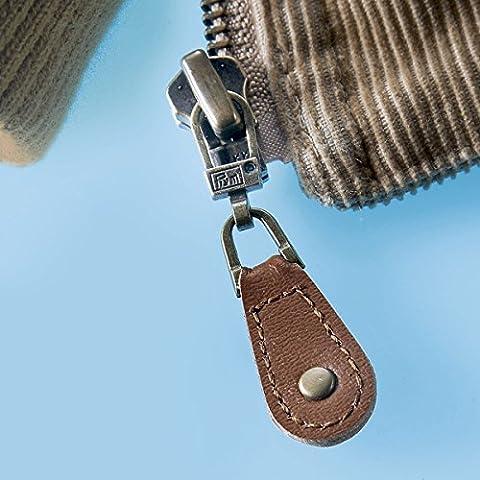 Fashion Zipper Leder-Zupfer, braun