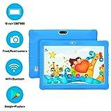 Tablette Enfant 10 Pouces 32Go ROM 4G/WiFi/OTG Android 7.1 Kids Tablette Tactile, 8500mAh Octa Core 8MP Caméra avec Logiciel Complet de Divertissement et d'apprentissage et Google Play (Bleu)