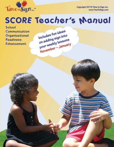 SCORE Teacher's Manual: November - January: Volume 6