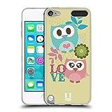 Head Case Designs Pink und Blau Liebe Kawaii Eule Soft Gel Hülle für Apple iPod Touch 5G 5th Gen