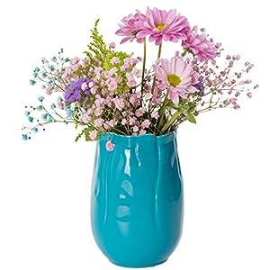 Hem & dekorationer Keramisk vasuppsättning blommavasfärgad (1 uppsättning med 5 vaser, färgad)