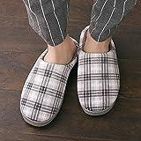 YSFU Hausschuhe Slipper Frauen Gitter Bottom Soft Home Hausschuhe Warme Baumwolle Schuhe Frauen Indoor Slip-On Schuhe Für Schlafzimmer Haus, 43