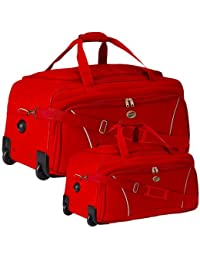 American Tourister VISION DUFFLE RED Trolley Bag Duffle With Wheels Combo Set Of 2 Sizes