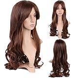 Perruque Femme Européenne Cheveux Synthétique Raide Long 20.5 inch - Dégradé(Ombre) Marron à Café...