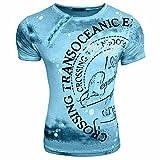 Rusty Neal Herren T-Shirts Tshirt Neu Größe S M L M XL XXL Rundhals Kurzarm Regular RN15045