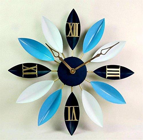 yifutang Europäischen Stil Wanduhr kreative Blatt hängende Glocke Retro industrielle Wind Dekoration Uhr -