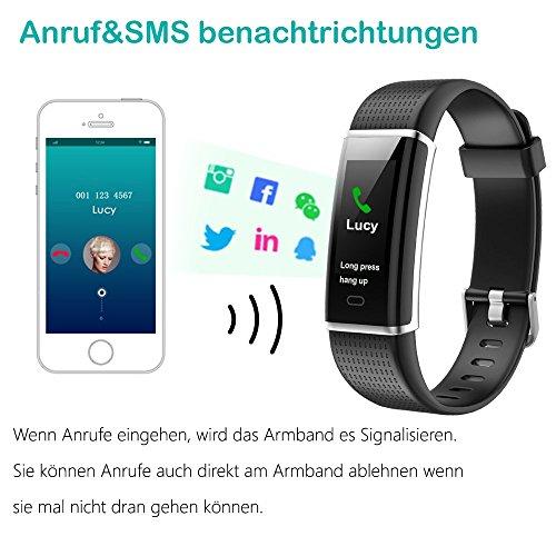YAMAY Fitness Armband,Wasserdicht IP68 Fitness Tracker mit Pulsmesser 0,96 Zoll Farbbildschirm Aktivitätstracker Fitness Uhr Smartwatch,Pulsuhren,Schrittzähler Uhr,Smart Watch für Damen Herren - 5