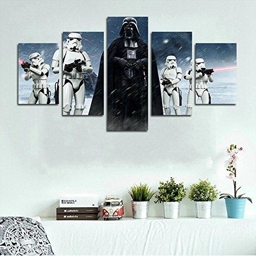 51SMbIUqUmL - YspgArt66 - Lienzo Impreso, 5 Piezas, diseño de Star Wars Darth Vader, Lienzo, para decoración del hogar, Sala de Estar, Oficina o Regalo (sin Marco)