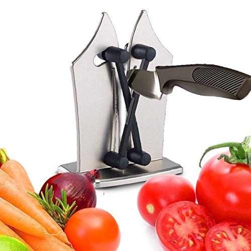 Messerschärfer Messerschleifer, LYL-1 Professionelle Küche Scherenschleifer Stahl Mit Zwei Verstellbaren Kanten Für Schärft, Perfektioniert Und Polituren Verzahnt-sicher und einfach zu bedienen