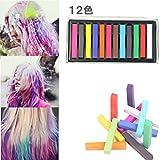 DIY Cheveux 12 PCS Craies De Couleur Temporaires Coloration Teinture Pour Cheveux Non Toxique OverDose DIY Hair Washout Dye Hair Chalk