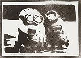Minions Ich – Einfach Unverbesserlich Poster Plakat Handmade Graffiti Street Art - Artwork