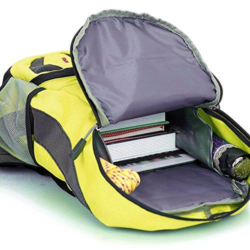 Kukome(TM) Multifunktion Fahrradrucksäcke Taschen Camping Outdoor Trekkingrucksäcke Wanderrucksäcke Große Kapazität 22L gelb