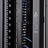 Tripp Lite SmartTrack Range-câbles vertical double conduit Fixation sans outils Noir 1,8m