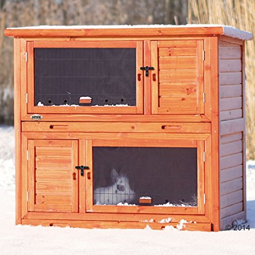 Outdoor Holz 2Etagen Stall mit Isolierung