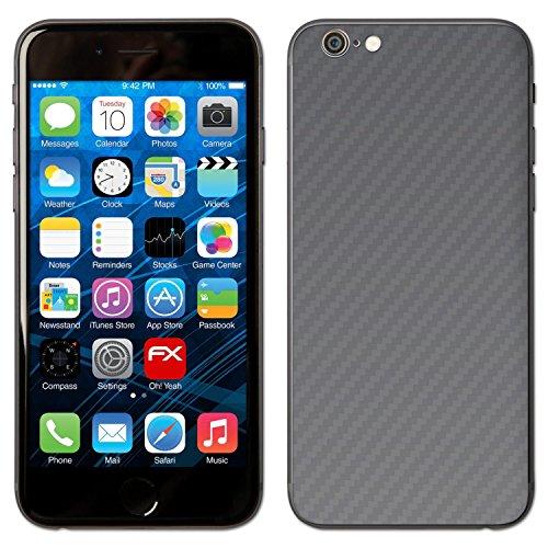 """Skin Apple iPhone 6 """"FX-Carbon-Red"""" Designfolie Sticker FX-Carbon-Silverdark"""
