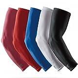 LP Support SL51 Performance Armstulpen, Arm-Sleeve, Ellenbogen-Schoner, Unterarm-Bandage, Power-Shooter, Sportstulpe, Unterarmstulpe, Kompressions-Armlinge, Elbow Sleeve, Ellenbogen-Schützer, Größe:M, Farbe:1 x weiß