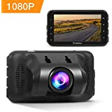 Crosstour 1080P Full HD Cámara De Coche Pantalla 3 Pulgadas ,Lente 650NM,Dash Cam Motion Detection , WDR y G-Sensor