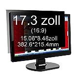 Xianan 17.3 zoll Widescreen 16:9 Blickschutzfilter Blickschutzfolie Privacy Screen Folie Blickschutz Sichtschutz für Laptops Notebooks Sichtschutzfolie