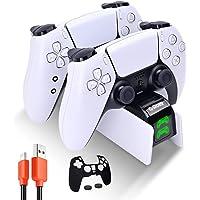 G-STORY Chargeur Manette PS5, Rapide Chargeur ps5 avec 1.5m Câble pour Manette PS5, Station de Chargement Compatible…