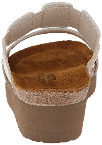 Naot Womens Ashley Leather Sandals Beige (Beige Metallic)