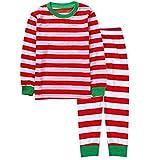 Damen Schlafanzug Frühling Herbst Gestreift Pyjama-Set Jungen Chic Langarm Rundhals Bequem Atmungsaktiv Schlafanzüge Schlafanzughose (Color : Mon Red, Size : M)